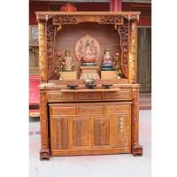 155对联佛龛套柜 北京佛龛厂家生产定做佛龛 佛堂设计 寺庙修缮