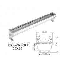 24W洗墙灯外壳批发,结构防水洗墙灯外壳,AL6063铝材外壳套件